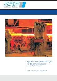 System- und Sonderlösungen für die Schwerindustrie - Pfaff-silberblau