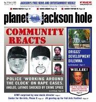 COMMUNITY REACTS COMMUNITY REACTS - Planet Jackson Hole