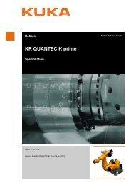 KR QUANTEC K prime - Kuka Robotics