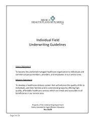 Individual Field Underwriting Guidelines - Lookinghelp.com h ...