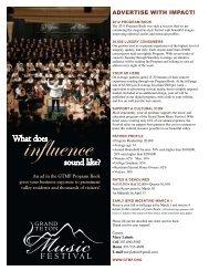 ADVERTISE WITH IMPACT! - Grand Teton Music Festival