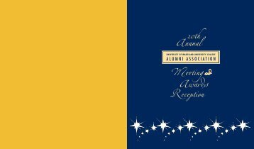 2009-2010 UMUC Alumni Association Annual Report