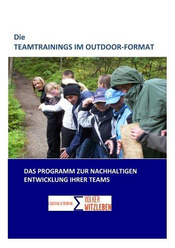 Teamtraining im Outdoor-Format - WeiterbildungsProfis