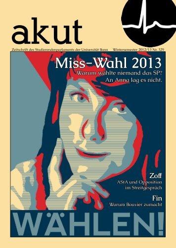 Miss-Wahl 2013 - akut online