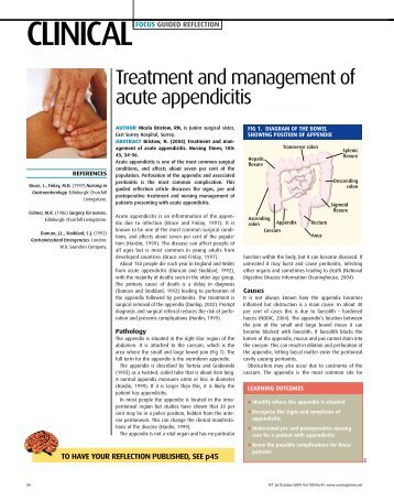 041026Treatment and management of acute ... - Nursing Times