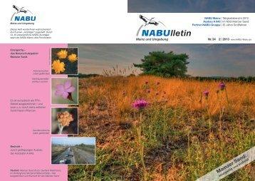NABUlletin 02/2013 - NABU Mainz und Umgebung