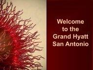 Welcome to the Grand Hyatt San Antonio