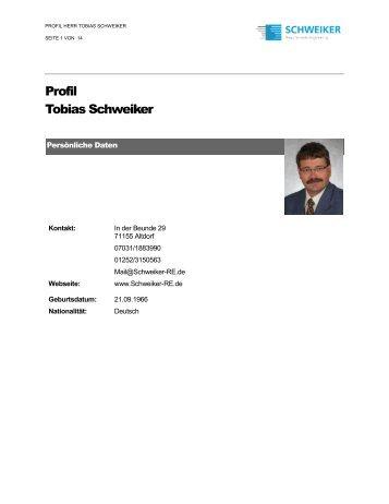 Profil Tobias Schweiker - Schweiker Requirements Engineering