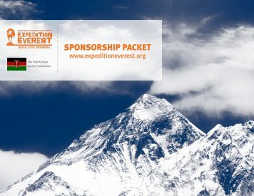 SPONSORSHIP PACKET - Expedition Everest