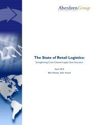 The State of Retail Logistics - BarCode ID Systems