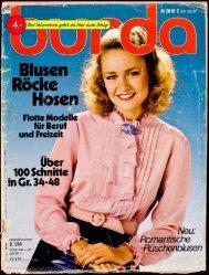 Zeitschrift Burda Blusen Röcke Hosen SH02 1981 E536
