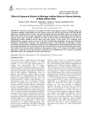 Effect of Aqueous Extract of Moringa oleifera Seed ... - Research Trend