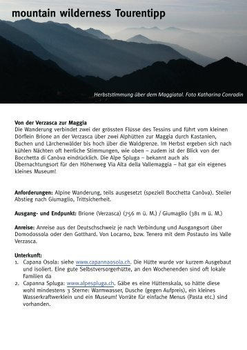 Tourentipp als pdf - Mountain Wilderness