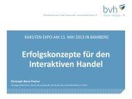 1. Die Entwicklung des Interaktiven Handels - Aktuelle ... - Rakuten.de