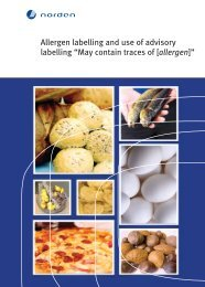 "Allergen labelling and use of advisory labelling ""May contain traces ..."