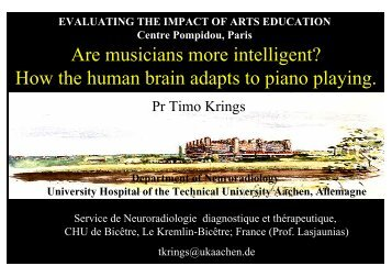 How the human brain adapts to piano playing. - Escuela Superior de ...