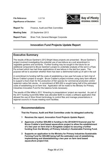 Innovation Fund Projects Update Report Executive Summary ...