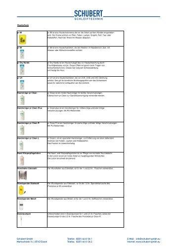 Hautschutz PDF - schubert schleiftechnik