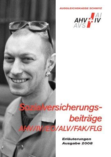 Sozialversicherungs- beiträge - Ausgleichskasse Schwyz