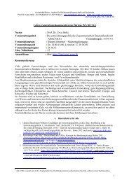 WS 2013/14 - Prof. Dr. Uwe HOLTZ - Universität Bonn