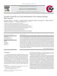 The effect of particle size on the biodistribution of low-modulus ...