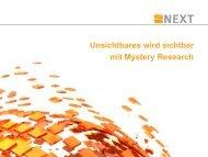 Unsichtbares wird sichtbar mit Mystery Research - SKOPOS NEXT