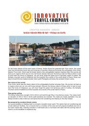 LIFESTYLE HOLIDAYS - GREECE Ionian Islands ... - Innovative Travel