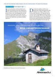 BEIM PADASTERJOCHHAUS - Almenrausch