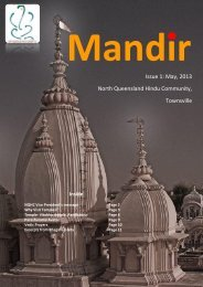 Mandir Issue - 1/2013 - North Queensland Hindu Community Inc.