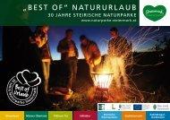 """""""Best of"""" Natururlaub 30 Jahre Steirische Naturparke - Peter Skoff"""