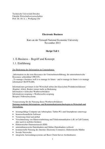 Skript Teil 1_2013 - Erstellen persönlicher Webseiten - Technische ...