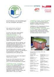 Ausschreibung - Deutsche Gesellschaft für Umwelterziehung