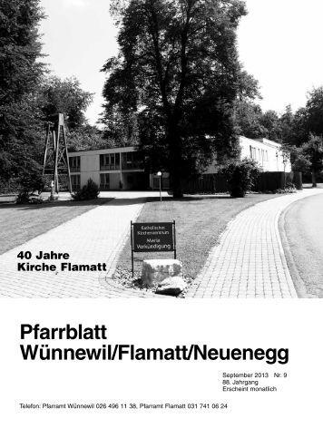 Pfarrblatt September 2013 - Pfarrei Wünnewil-Flamatt