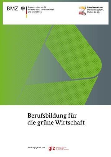 Berufsbildung für die grüne Wirtschaft - Gtz - GIZ