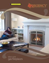 Regency Direct Vent Gas Fireplaces - Countryside Hearth