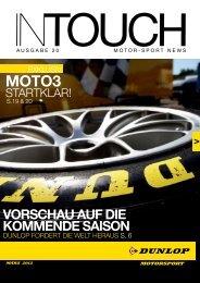 VORSCHAU AUF DIE KOMMENDE SAISON - Dunlop Motorsport