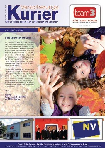 Infos und Tipps zu den Themen Versichern und Vorsorgen ... - Team 3