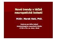 Nové trendy v léčbě neuropatické bolesti