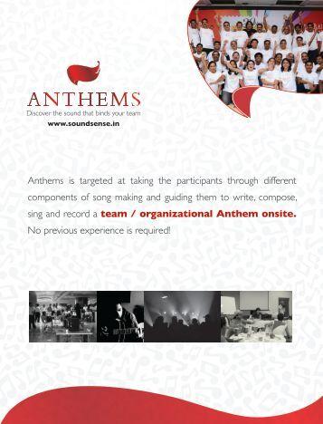Anthems - Inspire! Imagine! Innovate!
