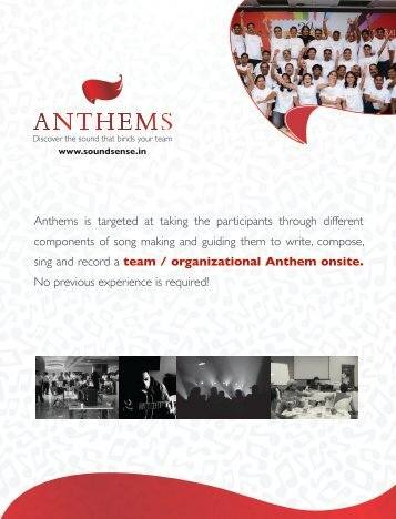 Anthems - Inspire! Imagine! Innovate!