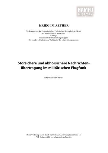 Störsichere und abhörsichere ... - Stiftung HAMFU