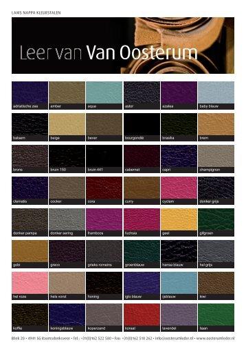LAMS NAPPA KLEURSTALEN - Van Oosterum Leder