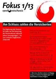 Fokus 1/2013 - vpod Ostschweiz