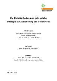 Die Straußenhaltung als betriebliche Strategie zur Absicherung des ...