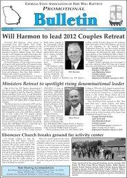 January 2012 Bulletin - The Georgia Association of Free Will Baptist