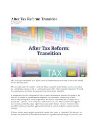Part 8: After Tax Reform: Transition - US Chamber of Commerce