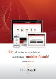 Ihr [ effektiver, unkomplizierter und flexibler ] mobiler ... - MeinCoach