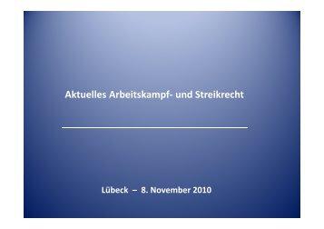 Aktuelles Arbeitskampf- und Streikrecht - Olaf Möllenkamp