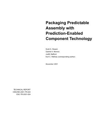 Packaging Predictable Assembly with Prediction-Enabled - Research