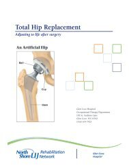Total Hip Replacement - North Shore-LIJ Health System